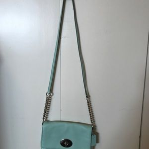 Coach Chain Strap Leather Crossbody